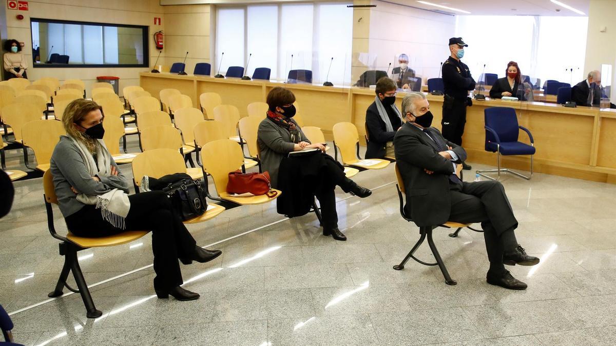 Bárcenas, durante el juicio por la caja b del PP.