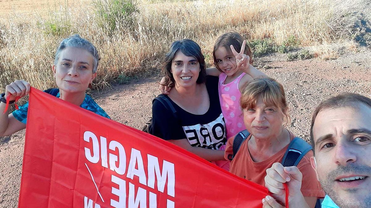 Participants de casa nostra en la caminada solidària