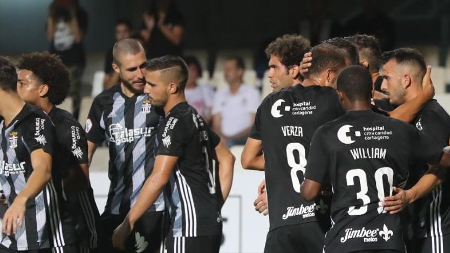 Los goles en el FC Cartagena, pocos y repartidos