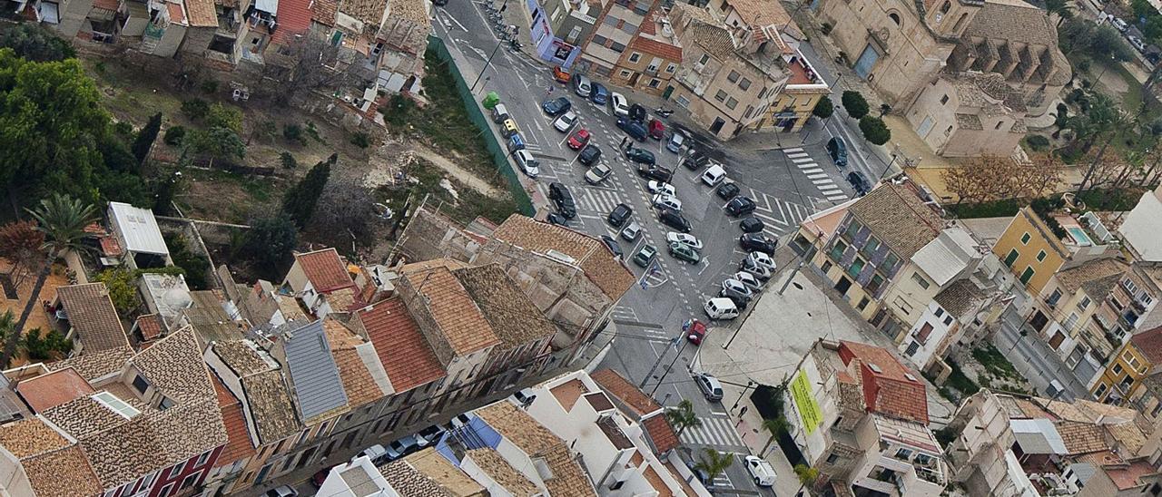 Vista aérea del centro urbano de Sant Joan d'Alacant, municipio de la provincia con la renta más alta.
