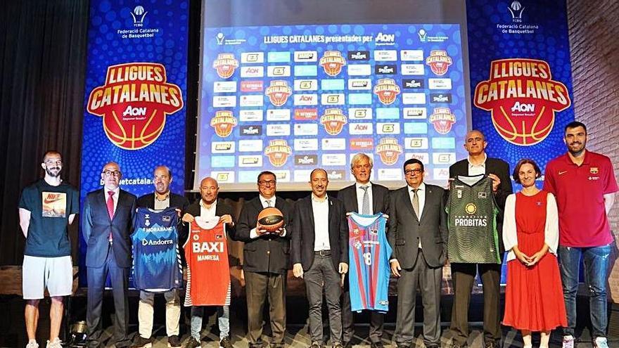 La federació presenta les Lligues Catalanes amb set equips nostres