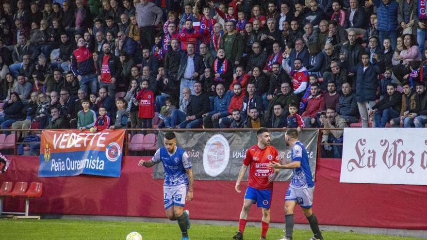 La UD Ourense sucumbe ante el Ourense CF con dos mazazos madrugadores