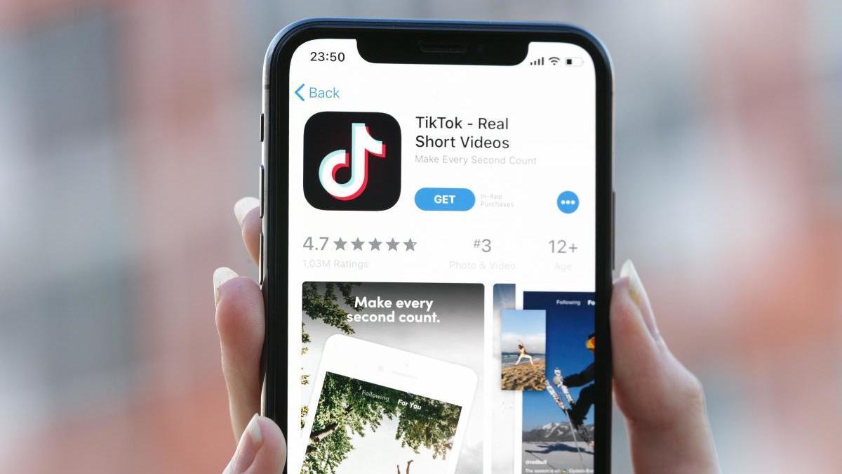 La app de TikTok