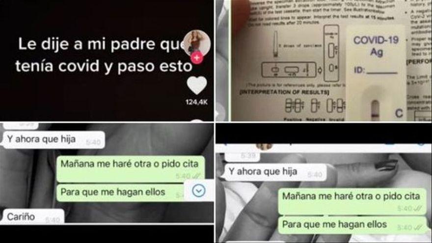 """La conversa viral entre pare i filla per WhatsApp: """"Li vaig dir que tenia covid i va passar això"""""""