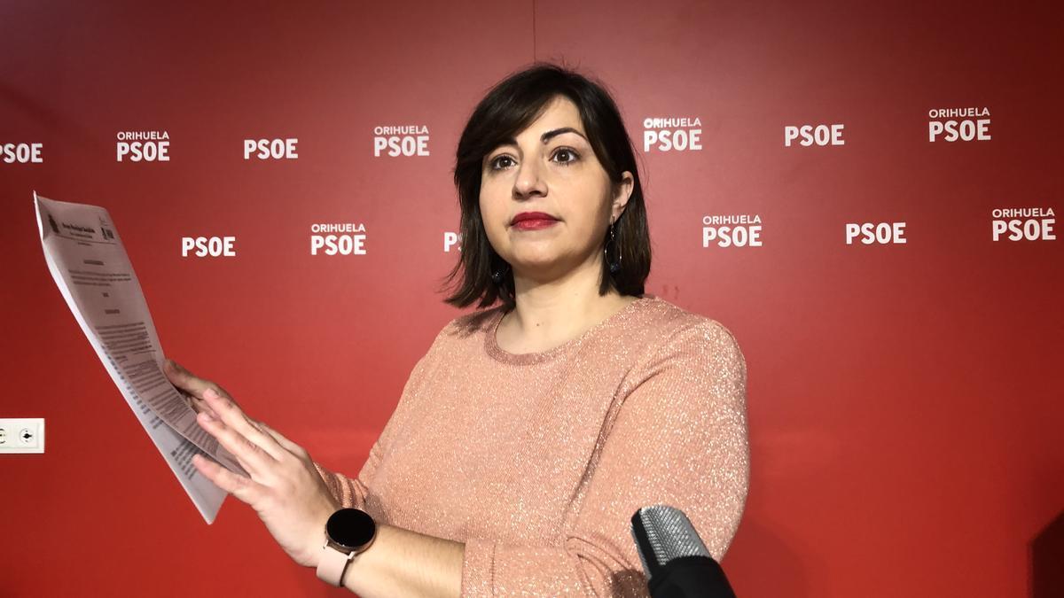 La edil del PSOE de Orihuela, María García