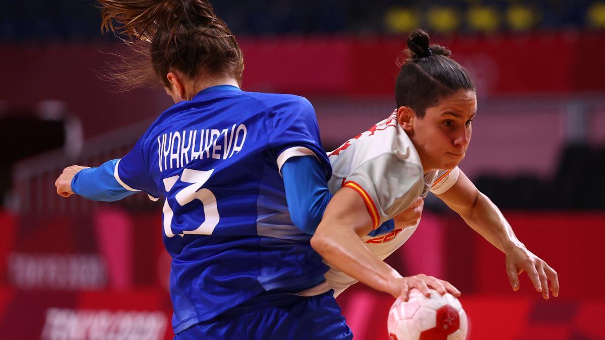 Alicia Fernández, en un momento del España-Rusia.
