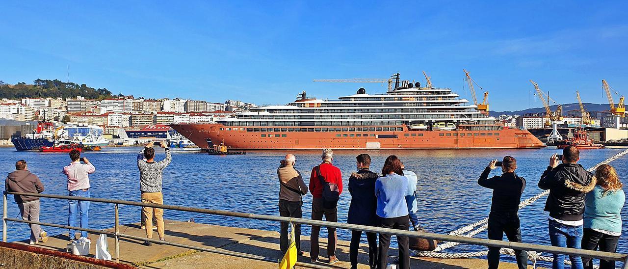 El crucero abandonó Vigo el 15 de marzo.
