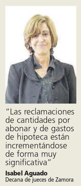 Isabel Aguado, decana de jueces de Zamora.
