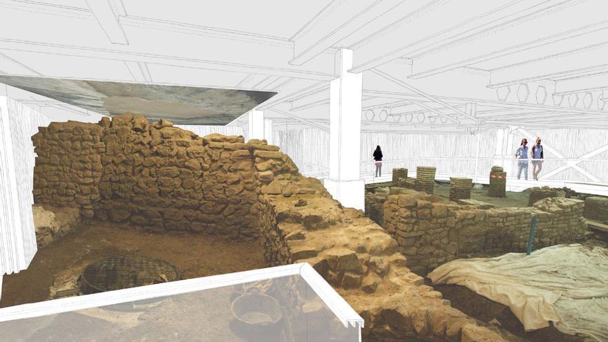 Las visitas a los restos romanos del Thyssen se harán en turnos de 10 personas