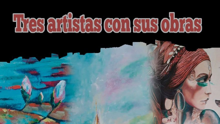 Exposición de los artistas Karin Kuprat, Agustín Déniz y Ángela Martínez