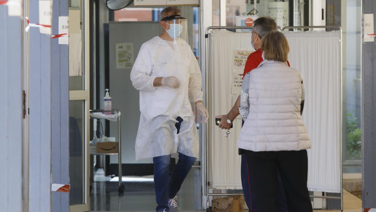 Tests PCR realizados en el ambulatorio de Serreria, en València.