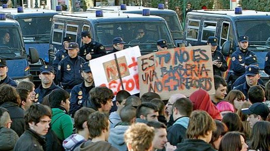 La huelga en Secundaria, entre el 20% y el 70% de seguimiento