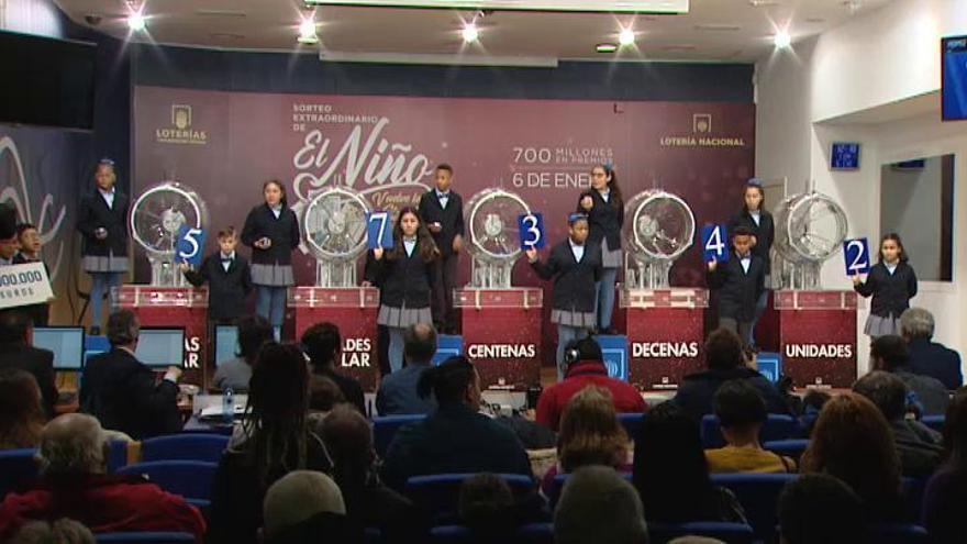 Lotería del Niño 2020: el 57342 gana el primer premio