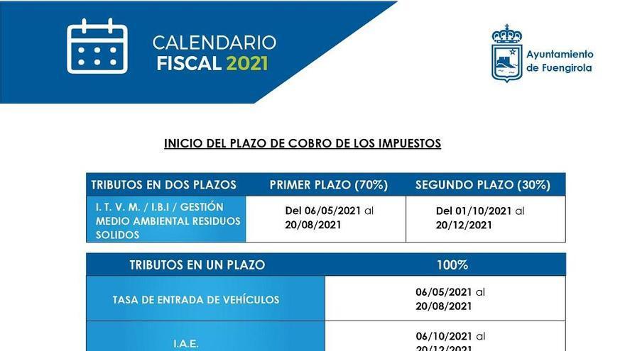 El Ayuntamiento de Fuengirola aprueba el calendario fiscal para el año 2021