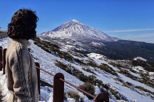 Sábado de novelería jugando en el Teide con la nieve