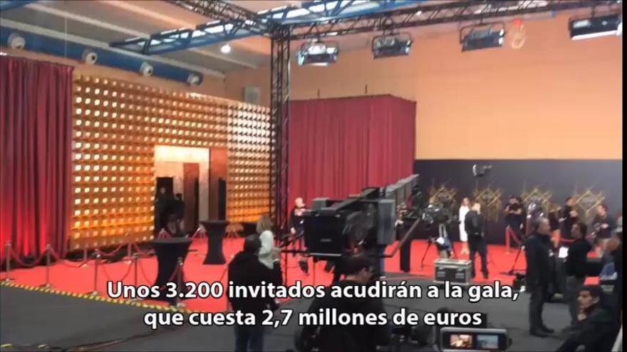 Preparativos para la gala de los Goya