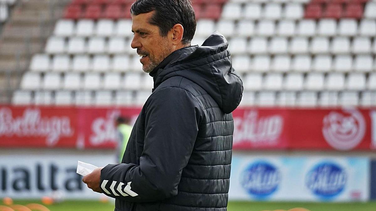 José Luis Rodríguez Loreto, en un entrenamiento. | PRENSA REAL MURCIA