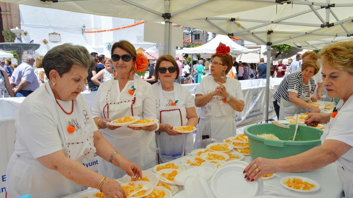 Una imagen de la Feria de la Naranja de Coín.