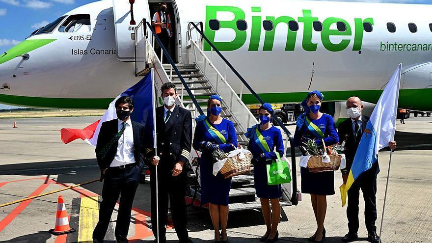 Binter despliega ya sus alas hacia Italia y Francia