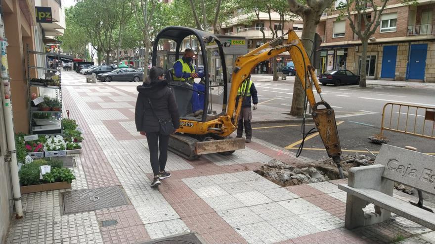 Comienzan las obras de mejora en las Tres Cruces de Zamora