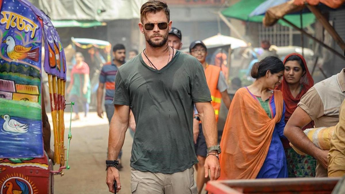 Chris Hemsworth en una escena de 'Tyler Rake'.
