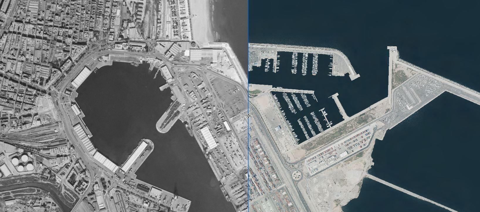 El Puerto, en 1998 y 2018