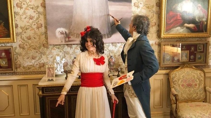 Eugenia Martínez de Irujo se convierte en un cuadro de Goya