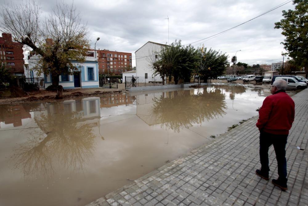 Consecuencias de la tromba de agua en Valencia