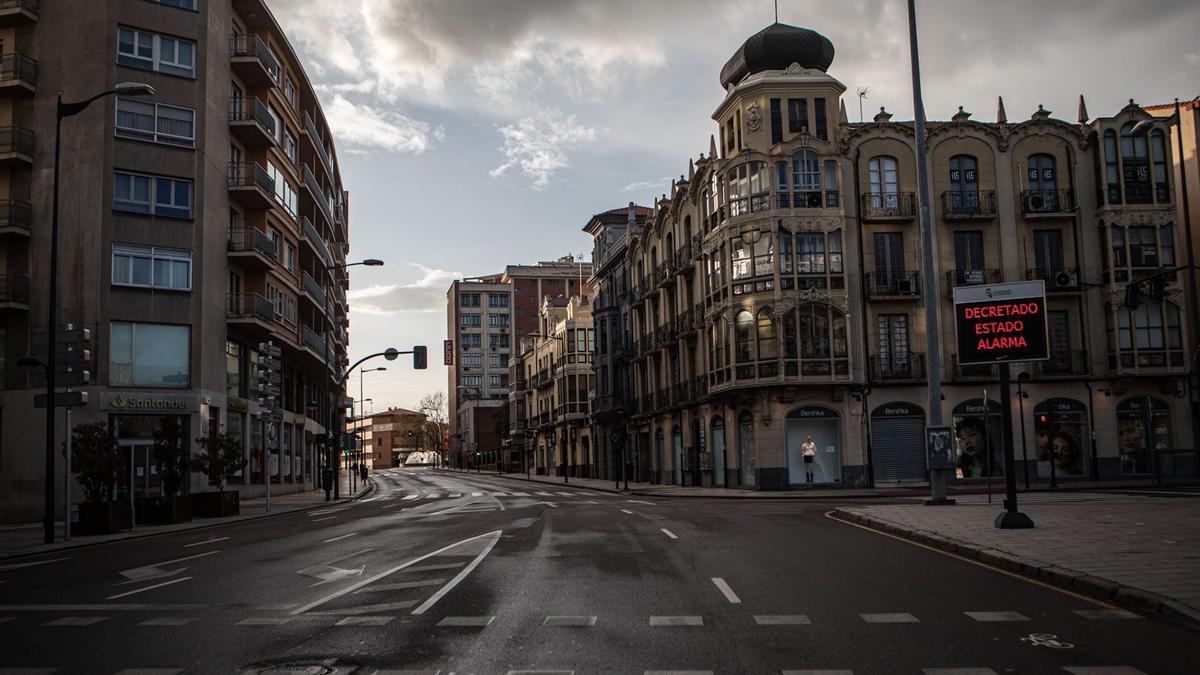 Estado de alarma en Zamora, vacía al completo.