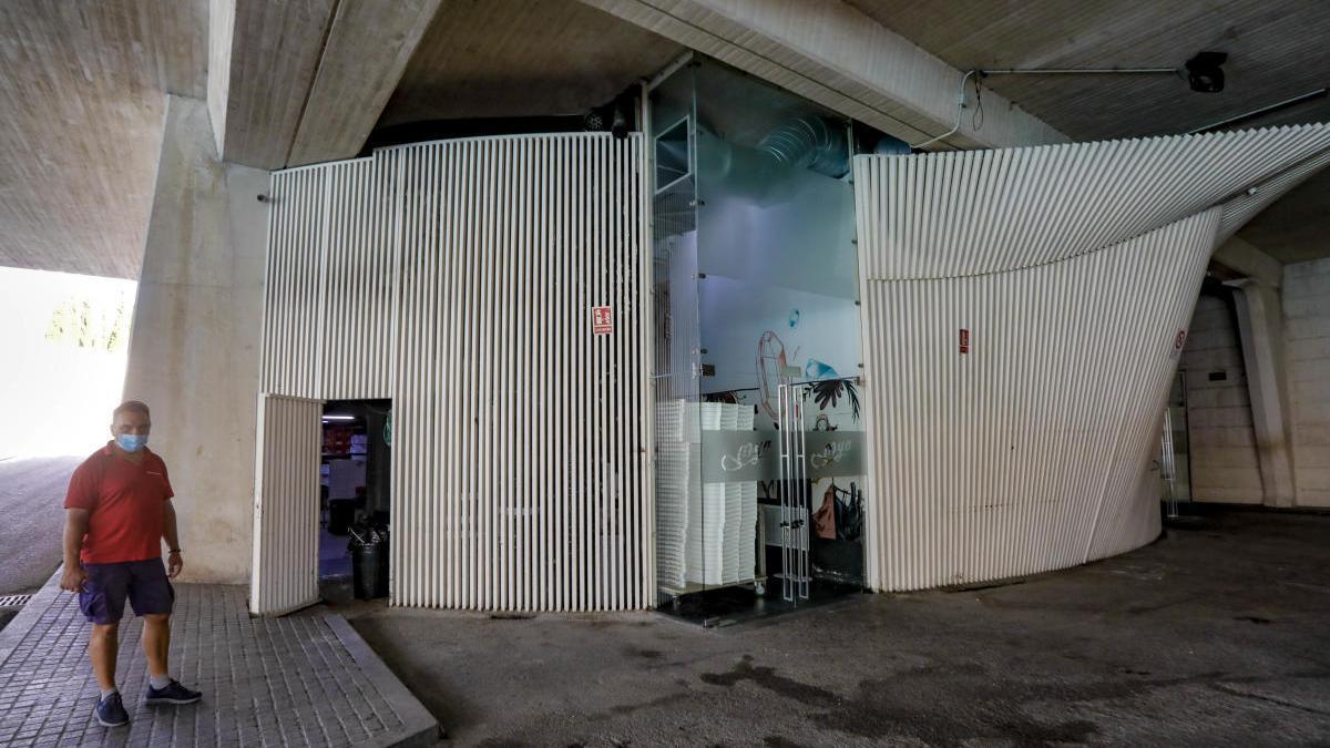 La discoteca Mya, cerrada tras detectarse contagios entre sus trabajadores.