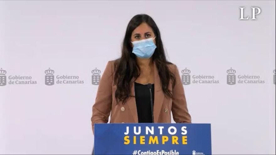 Vidina Espino comparece tras su reunión con Ángel Víctor Torres