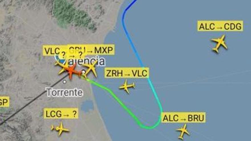 Una emergencia médica obliga a un vuelo a aterrizar en Manises