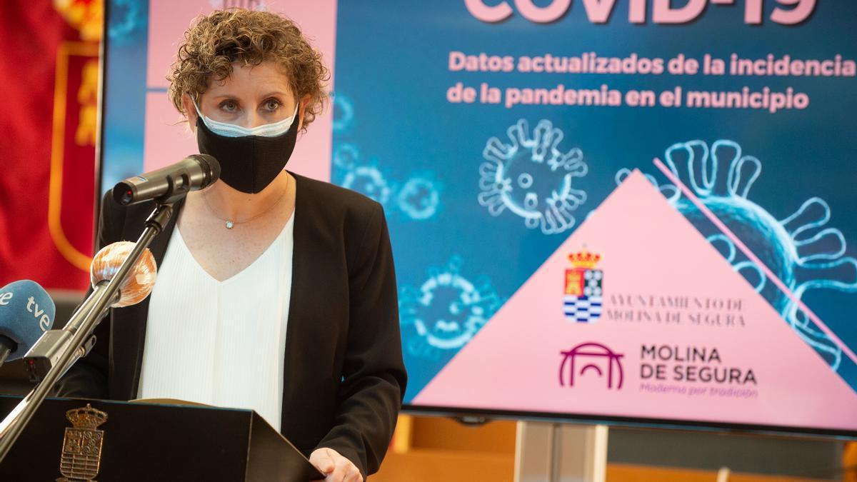 La excalcaldesa de Molina de Segura, Esther Clavero, en una foto de enero de este año.