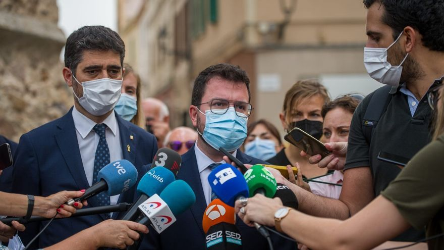 """Aragonès, tras reunirse con Puigdemont: """"La represión continúa"""""""