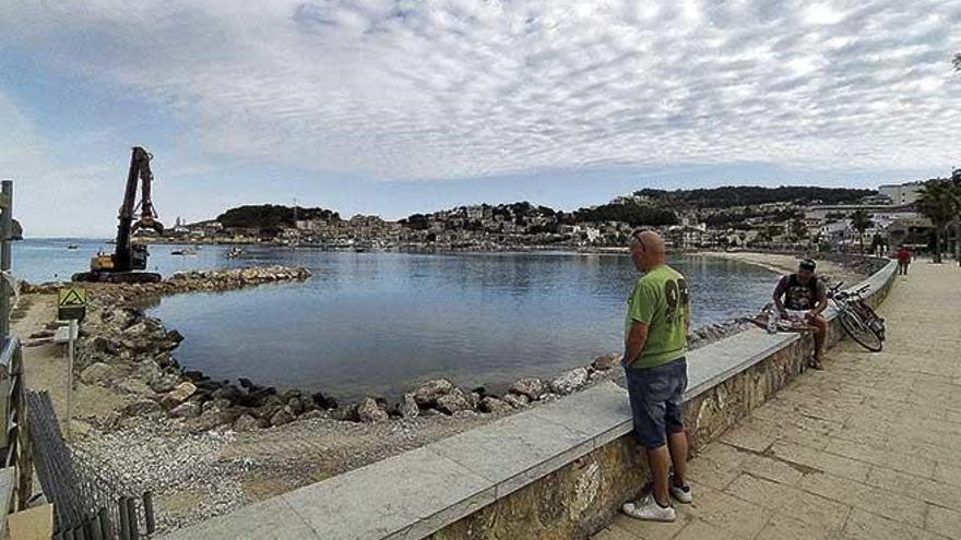 Sóller quiere recrecer una playa del Port con un aporte de arena llegada en barco