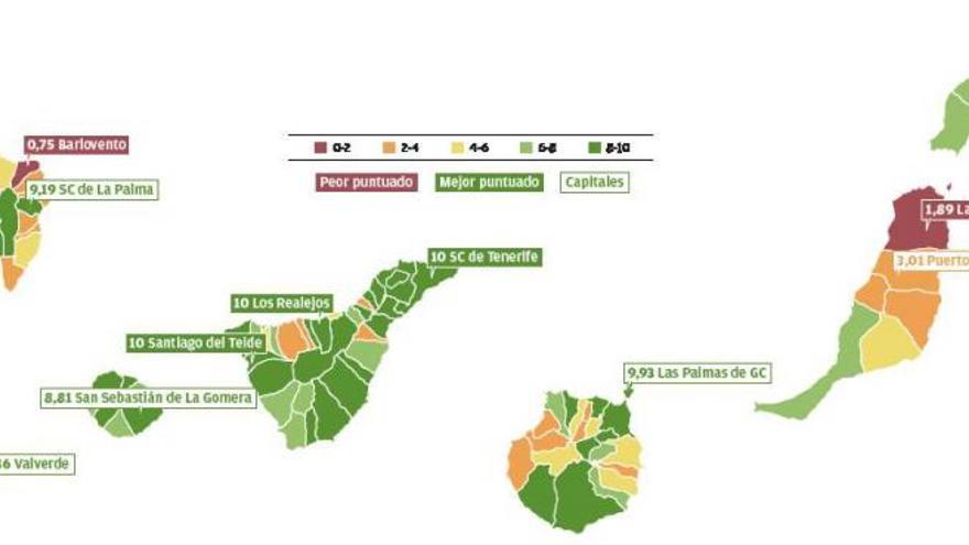 Once de 52 consistorios suspenden en transparencia en Tenerife y Gran Canaria