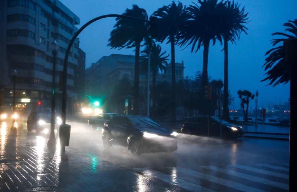 Temporal en Gijón.