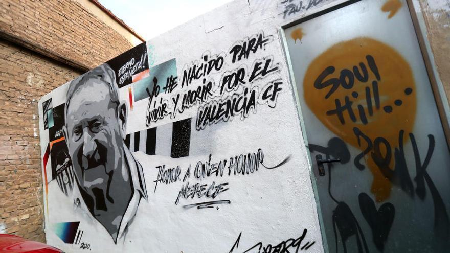 El nuevo mural a Españeta en las calles de València