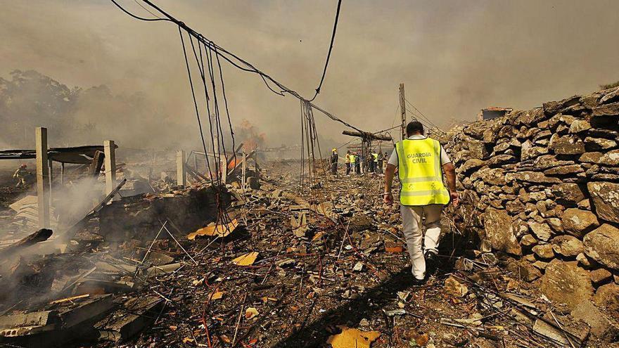Afectados por la explosión de la pirotecnia de Tui avanzan para declarar corresponsable al Estado