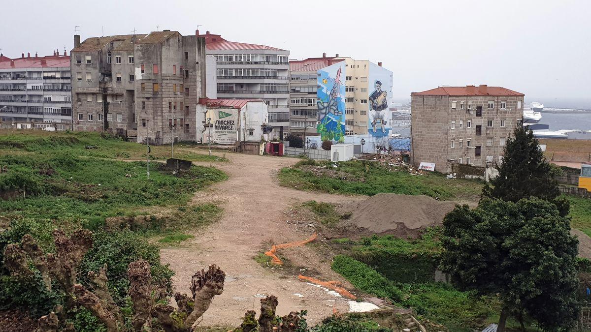 Parte de la parcela de Barrio do Cura.