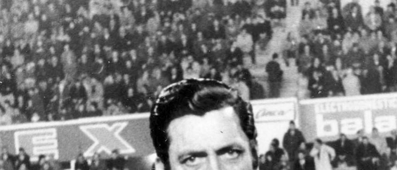 Ortiz de Mendibil, en un partido en Balaídos. // FdV