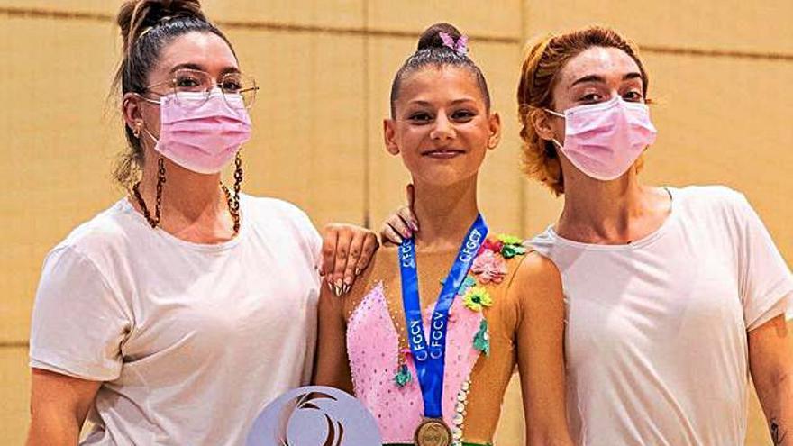El Club de Gimnasia Rítmica de Alcàsser triunfa en el Trofeo Federación
