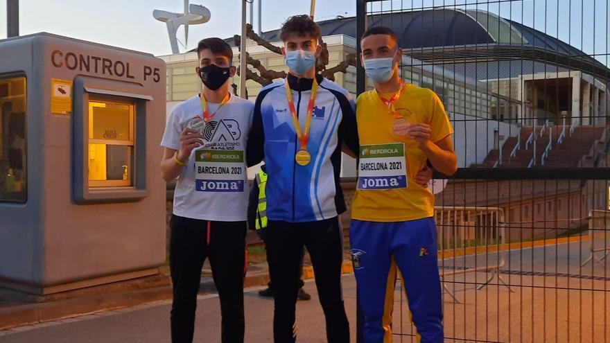 Un oro y dos bronces en el Nacional sub-18
