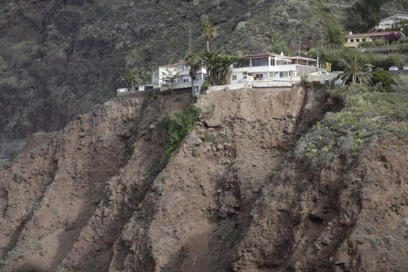 Zonas con riesgos de desprendimiento en Tenerife