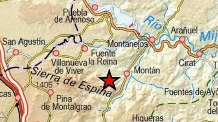 Un terremoto se deja sentir en Montán y Pavías, en Castelló