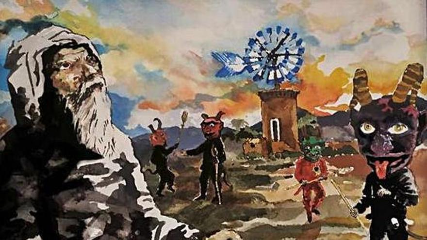 Dibujantes y defensores de la fiesta celebraron el Sant Antoni 'online'