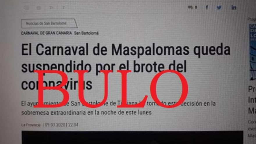 Bulo: El Carnaval de Maspalomas no se suspende por el coronavirus