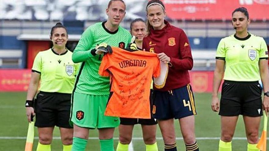 La selección de Países Bajos tiene un detalle con Virginia Torrecilla
