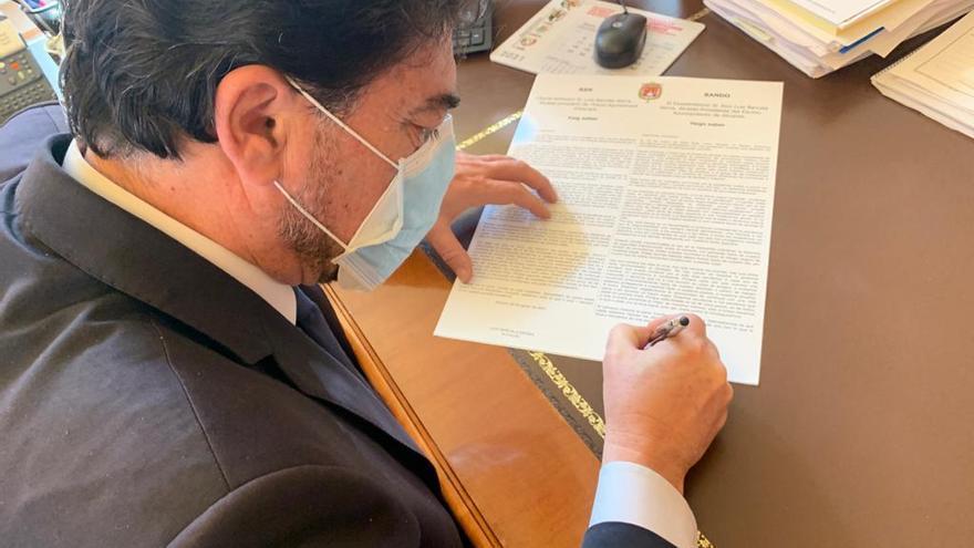 Bando del alcalde de Alicante sobre la pandemia
