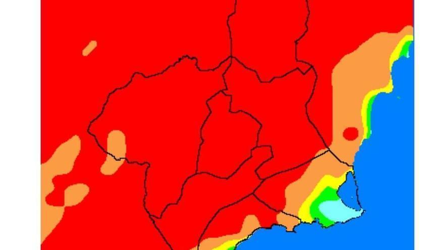 Ola de calor en Murcia: Riesgo extremo de incendio forestal en casi toda la Región